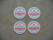 Lot of 4 Harshbarger Dairy Milk Bottle Caps Altoona Pa Blair County Sheetz
