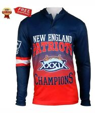 Klew New England Patriots Red On the Fifty Matchup Hooded Long Sleeve T-Shirt  -