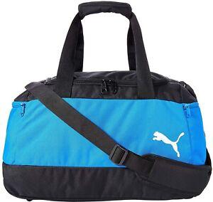 Puma Pro Training II Small Holdall Blue Zipped Duffel Bag Gym Football Travel