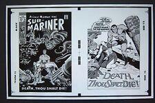 Original Production Art Sub-Mariner #13 cover & splash page, Marie Severin art