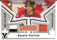 2005-06 ITG Heroes & Prospects Oh Canada Emblem Jersey Benoit Pouliot Vault 1/1