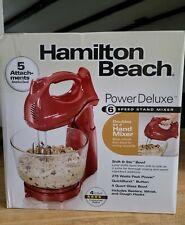 Hamilton beach 6-speed electric hand mixer blender.4 quart glass bowl.5atachment