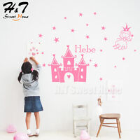 Princess Genius Castle Customized Name Vinyl Wall Sticker Decals Baby Girls Room