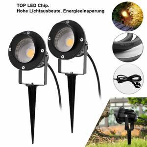 spot extérieur noir éclairage de jardin lampe LED RGB/Blanc COB Projecteur