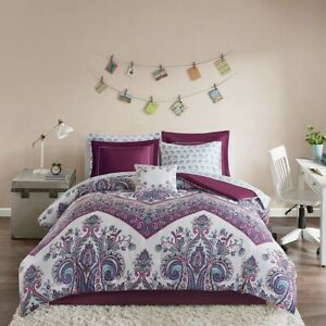 Allura Completed Bed and Sheet Set - Purple - Twin - 7pc - NEW - FAST SHIPPING!
