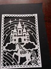 6 Unicorn & Castle Fantasy Scene  Die Cut shapes