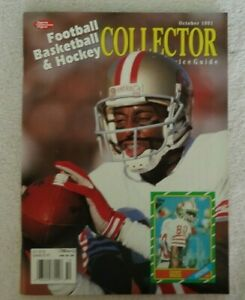 Sports Collectors Digest October 1991 Jerry Rice w/ 5 uncut cards Fedorov