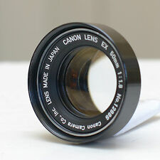 Canon EX 50mm f1.8 Lens with Hood, Superb Condition, 1:1.8 EX EE, 933