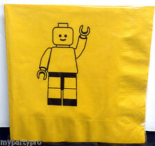 Lego inspired, Block Man LUNCH Napkins Birthday Party Supplies Limited Supply