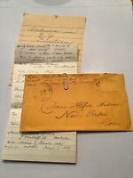 1870's Handwritten Letters Andrews In NY York Directory