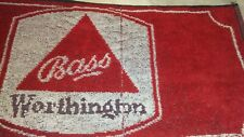Bass Worthington Beer~ Bar Towel Home Bar Collectible~