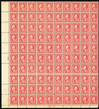 499, (looks like 499a) Mint Sheet of 100 With One Row Misperforated Stuart Katz