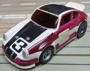 For H0 Slotcar Racing Model Railway - AFX Porsche Carerra + 2 New Sander / Tyre