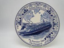 Blue Delft Plate Holland American Inaugural MS Zaandam 2000 Royal Goedewaagen
