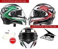 Axo Casco Rs01 con Pinlock Verde/bianco/rosso Taglia M