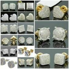 AAA Zircon Stone Gold Stud Earrings Men Women Luxury Geometry Earrings Jewelry