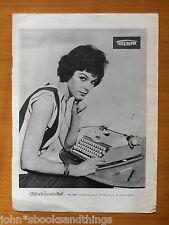 1959 TRIUMPH MACCHINA DA SCRIVERE ANNI 50 MOD DONNA PUBBLICITA OLD TYPEWRITER AD