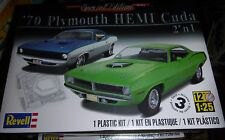 REVELL 1970 HEMI PLYMOUTH CUDA 2N1 Model Car Mountain KIT 1/25 FS