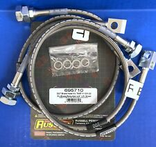 "Russell Stainless Brake Hose Line Kit 1979-87 Chevy GMC K1500 K2500 4WD 4"" Lift"