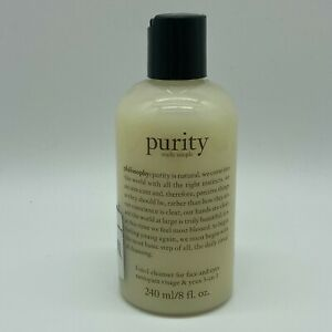 Philosophy PURITY Made Simple 3-in-1 Cleanser For Face & Eyes 8oz SEALED