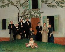 The Family by Henri Rousseau 60cm x 48cm Art Paper Print