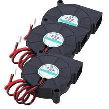 3Pcs DC 12V 5015 Radial Turbo Blower Cooling Fan 35000 hours Life For 3D Printer