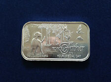 1993 SilverTowne To Your Father Father's Day Silver Art Bar P2727