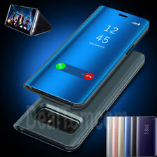 Clear Mirror View Flip Leather Case Cover for Samsung Galaxy J7 J5 J3 Pro Prime