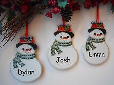 Personalised Snowman Christmas Tree Decorations Christmas Ornaments Baubles