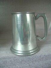 Horse Head Pewter Emblem Stainless Steel Tankard Beer Mug  FREE UK POSTAGE