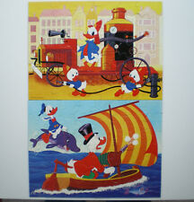 2x Puzzle, 36 + 48 Teile, Disney, Lustige Fahrt, Schmidt, gebraucht, rar, 70er J