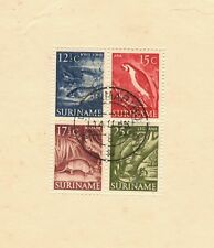 1955 Surinam SC#263a Pictorial Definitives Armadillo Fish Iguana Parrot used CDS