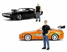 Jada 1:24 Fast & Furious Dodge Charger R/T Toyota Supra Brian & Dom Figures Set