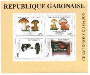 Gabon 1999 Mi. Bl. 102 Champignons Mushrooms Pilze Rare Scarce Flore Flora MNH**
