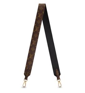 ❤️NEW LOUIS VUITTON BANDOULIÈRE Wide Shoulder Strap Monogram Black RARE!
