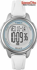 Timex T5K637 Digital White Resin Step's Distance Calories Sport Women's Watch
