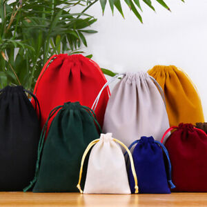 3 Sizes Velvet Drawstring Pouch Jewelry Baggie Ring Party Wedding Favor Gift Bag