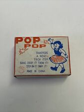 antique vintage pop snappers fireworks noisemakers