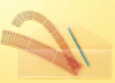 CLOVER x3 FRENCH CURVE RULERS WITH MINI RULER DRESS MAKING, PATTERN DRAFTING