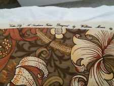 More details for sanderson golden lily fabric designed by william morris 1.2m x 5m
