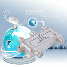 4 Way Satellite/Antenna/Cable TV Splitter Distributor 5-2400MHz F Type YF