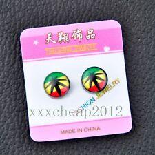 Fashion magnetic earrings Unique Marijuana Leaf Earring ED33