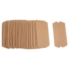 50 x Kraftpapier Geschenkbox Geschenkschachtel Kissenschachteln , 15 x 7.5cm