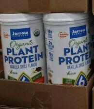 (2) Jarrow Formulas Organic Plant Protein, Vanilla Spice, 16 Oz Exp: 12/2021