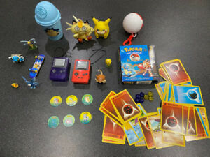 Pokemon Toy Lot - Tomy Toys, Cards, And Miscellaneous Collectibles