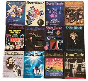 Lot of 12 Sheet Music Magazine 1992-2002 & Popular Hits 1990