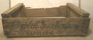 Vintage Campbell Soup Company Original Wooden Shipping Crate Napoleon Ohio 1967