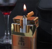1pc Refillable Butane Gas Jet Flame Lighter Cigarette Shaped Windproof Men Gift