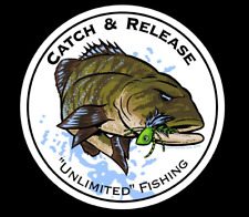 Smallmouth Bass Catch & Release Decal - Fishing Sticker