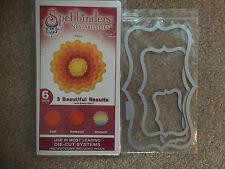 SPELLBINDERS Nestabilities Peony FLOWER Cut Emboss Stencils CCShape Die Cuts NEW